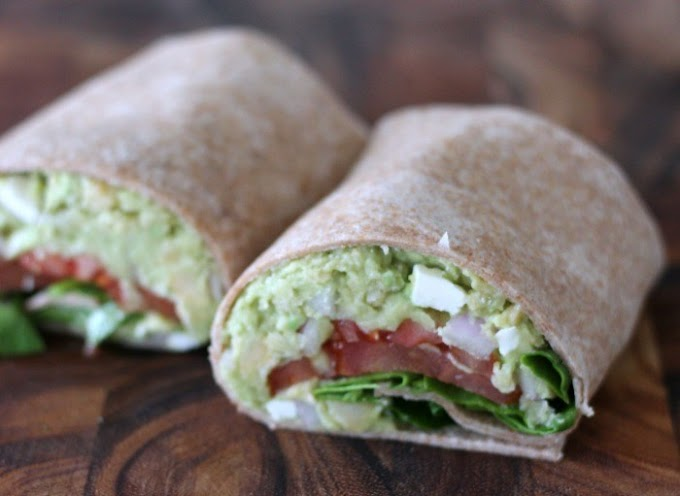 Chickpea Avocado Mash with Feta #dietrecipe #healthy