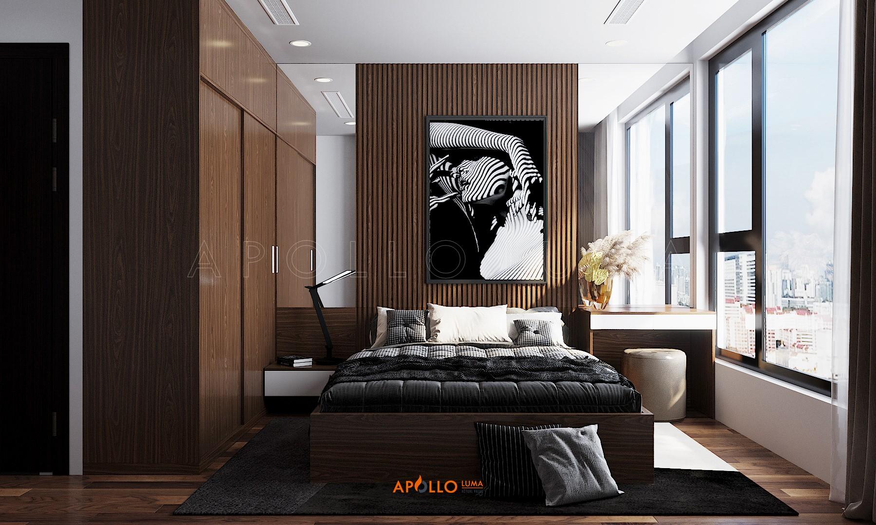 Thiết kế phòng ngủ phong cách Contemporary căn hộ Hinode City