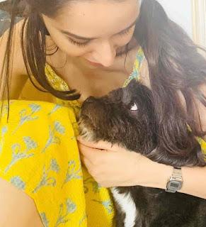 Shraddha Kapoor With Dog