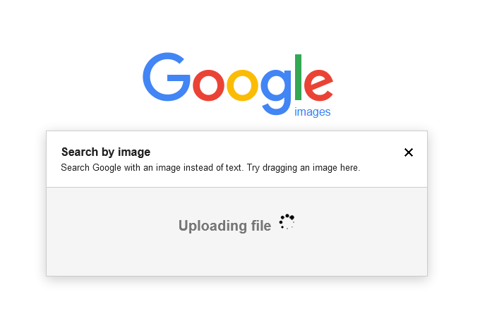 An image uploading process is ongoing
