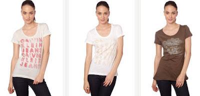 Camisetas para mujer de CK