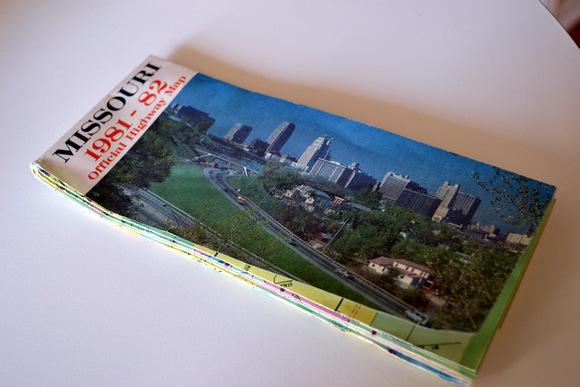 Map of Missouri 1981