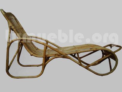 tumbona hecho en caña de bambu j416