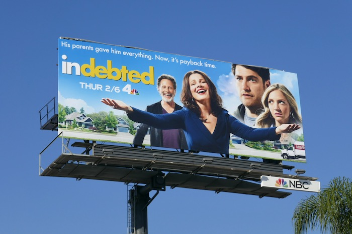 Indebted series premiere billboard