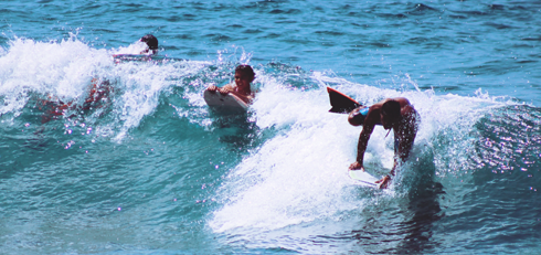 Surfers North Shore Oahu Hawaii