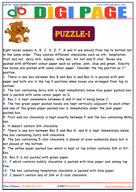 DP   PUZZLE   28 - FEB - 17   IMPORTANT FOR SBI PO