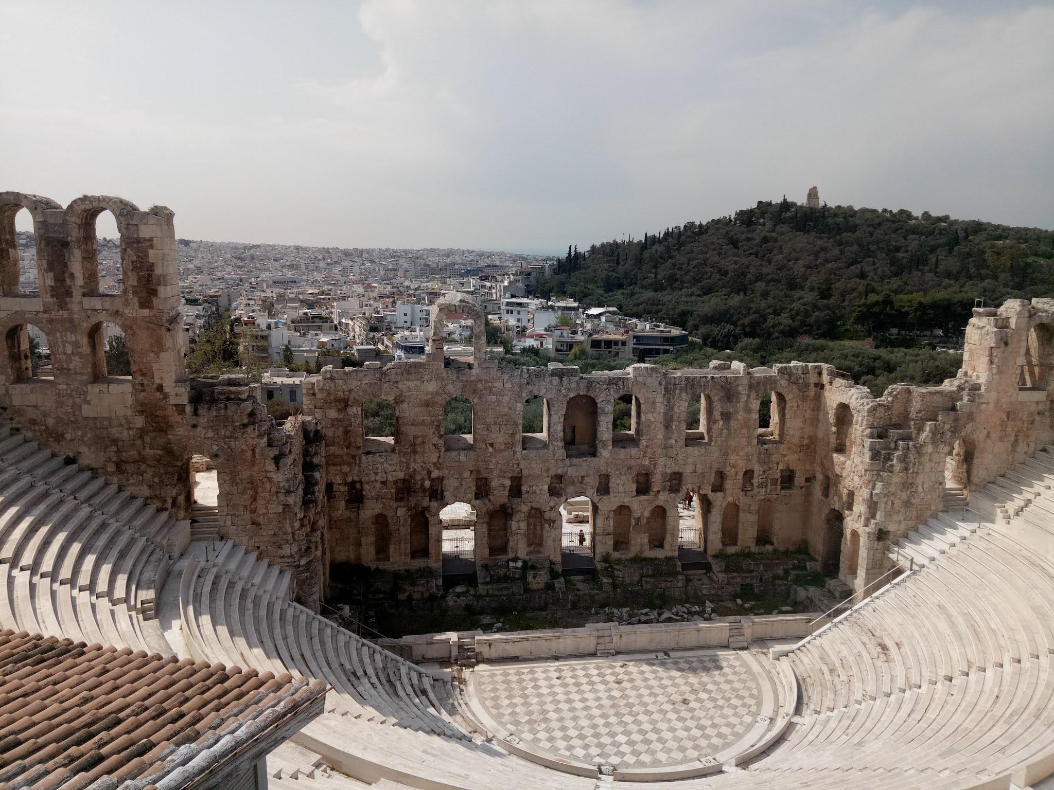 Travelog Greece, Athens: Acropolis Amphitheatre of Herodeion