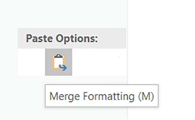 Merge Formatting (M) word 2019