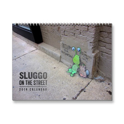 Sluggo on the Street 2014 Chalk Art Calendar