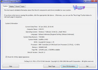 Mengecek Spesifikasi Laptop Dan Komputer Melalui Windows Run
