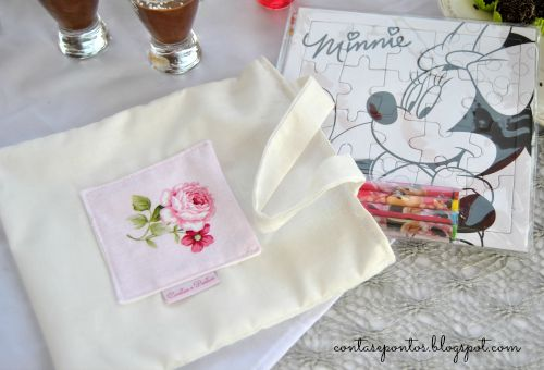puzzle bag, baptism and wedding ideas