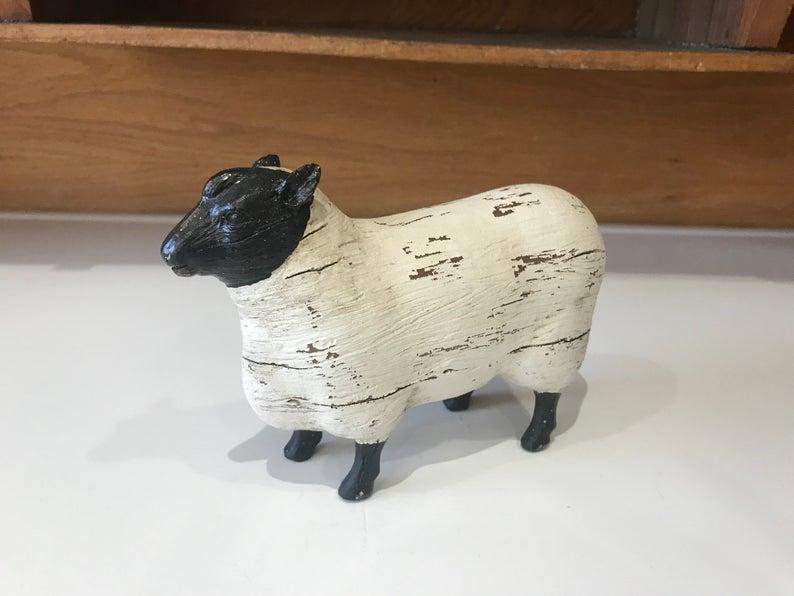 Farmhouse Sheep Figurine