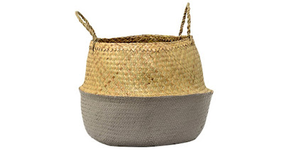 natural grey seagrass basket