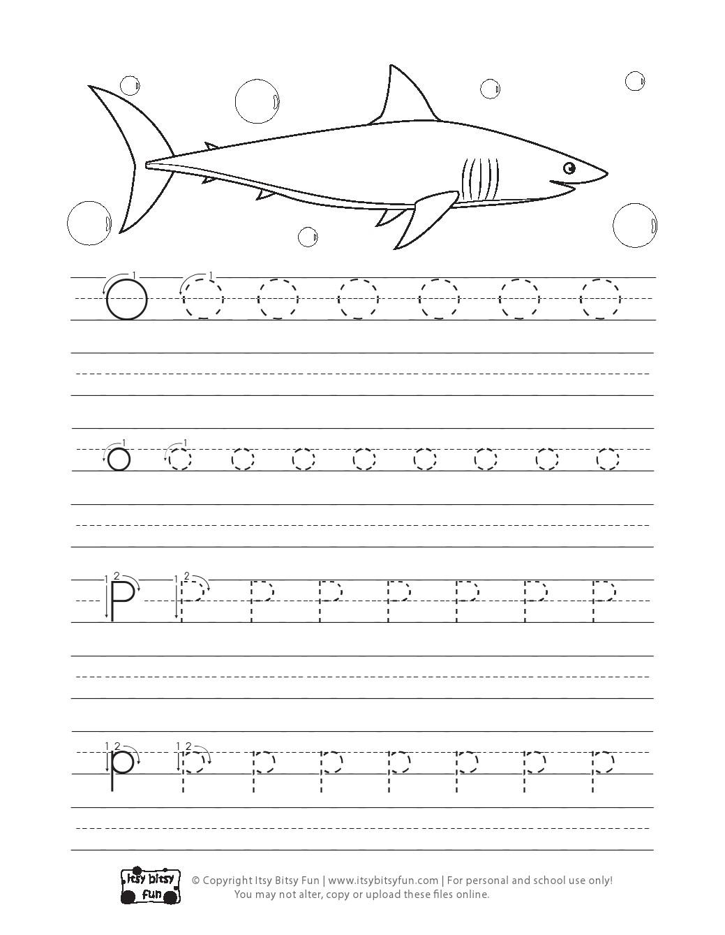 Ocean Animals Handwriting Worksheets And