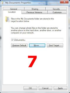 Cara Memindahkan Lokasi My Documents Pada Windows