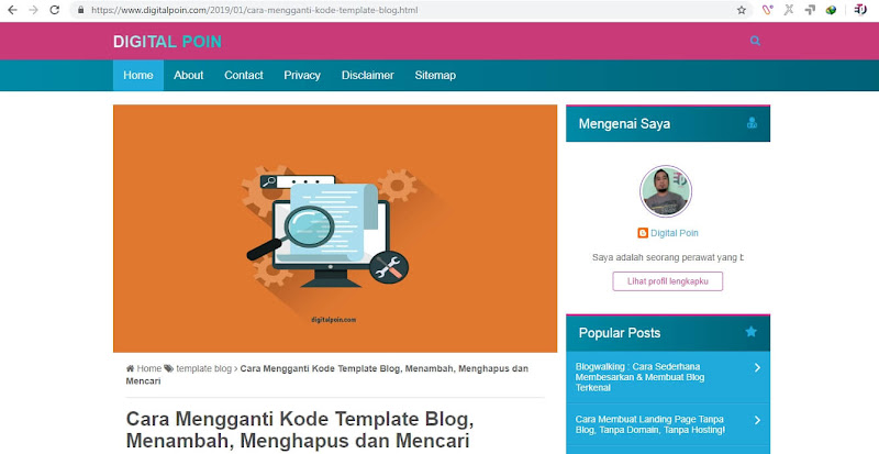 Cara Mengetahui Kode Template Blog