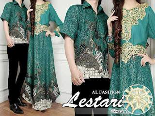 Baju Kondangan Serasi Batik Warna Hijau Sedang Ngetren