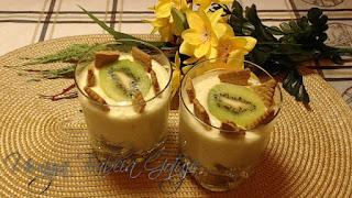 prosty deser z kiwi