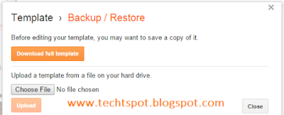 Restore Blogger Blog Template Theme 2