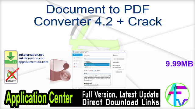 Document to PDF Converter 4.2 + Crack