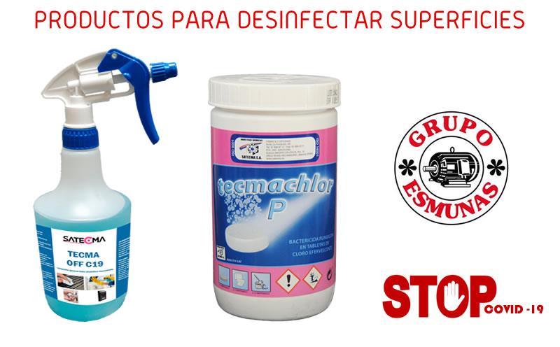 Comprar productos desinfección coronavirus o COVID-19 en El Grupo Esmunas, Guadalajara
