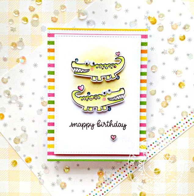 Sunny Studio Stamps: Outback Critters Stitched Rectangle Dies Card by Franci Vignoli