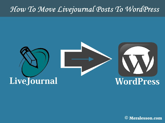How To Move Livejournal Posts To WordPress
