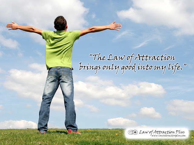 Free Law of Attraction Wallpaper with Decree and Positive Affirmation
