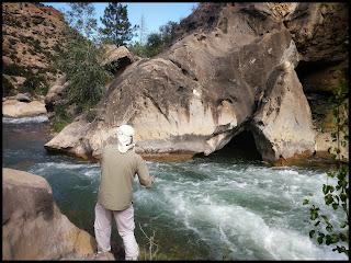 Hubby Fishing Lower Seeley River, Utah