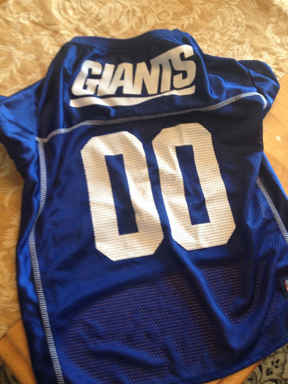 NY Giants Football Jersey costume for dogs