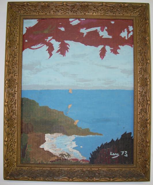 1973 painting Baracoa, Cuba by F. Lennox Campello
