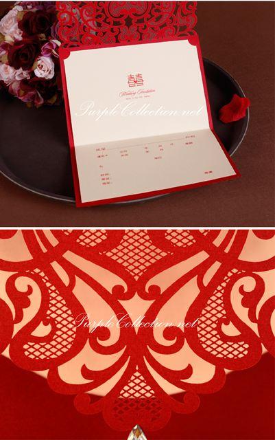 red laser cut wedding invitation card printing malaysia, kuala lumpur, cetak, kad kahwin, elegant, impressive, unique, special, one of its kind, online order, personalized, bespoke, custom made, english, chinese, western, map printing, sabah, sarawak, penang, perak, ipoh, johor bahru, JB, singapore
