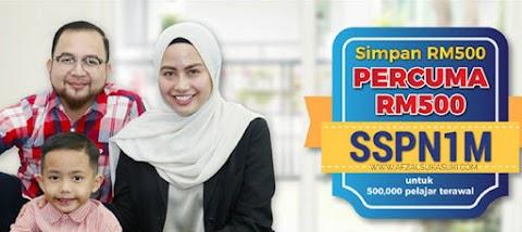 Promosi SSPN1M : Simpan RM500 Dapat PERCUMA RM500!