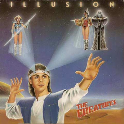 Copertina dell'album Italo Disco ''Illusion'' dei The Creatures