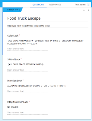 Sample image from a Food Truck Escape Room