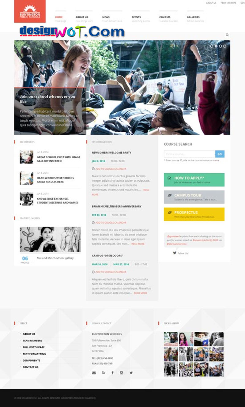 buntington education wp theme