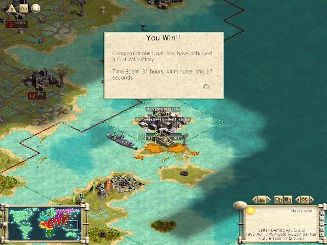 Civilization 3 - Cultural Victory Description