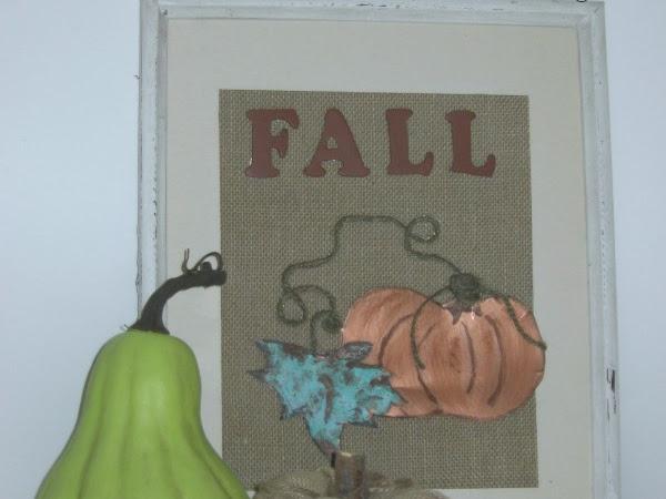 A Fall Pumpkin Craft Idea Using Burlap And Tin