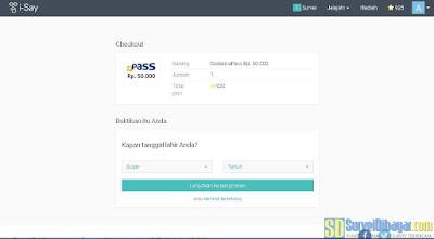 Verifikasi identitas diri untuk proses penukaran poin I-Say Indonesia | SurveiDibayar.com