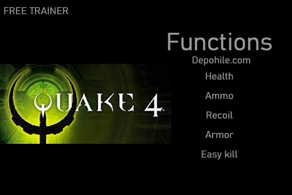 Quake 4 PC Oyunu Sınırsız Cephane, Kolay Kill Trainer Hilesi