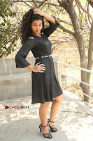 Telugu Actress Pavani Latest Pos in Black Short Dress at Smile Pictures Production No 1 Movie Opening  0003.JPG