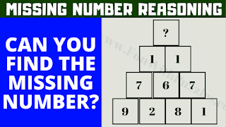 In these Tricky Maths Puzzles, your challenge is to find the value of the missing number in pyramid