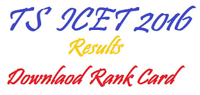 TS ICET Results 2016