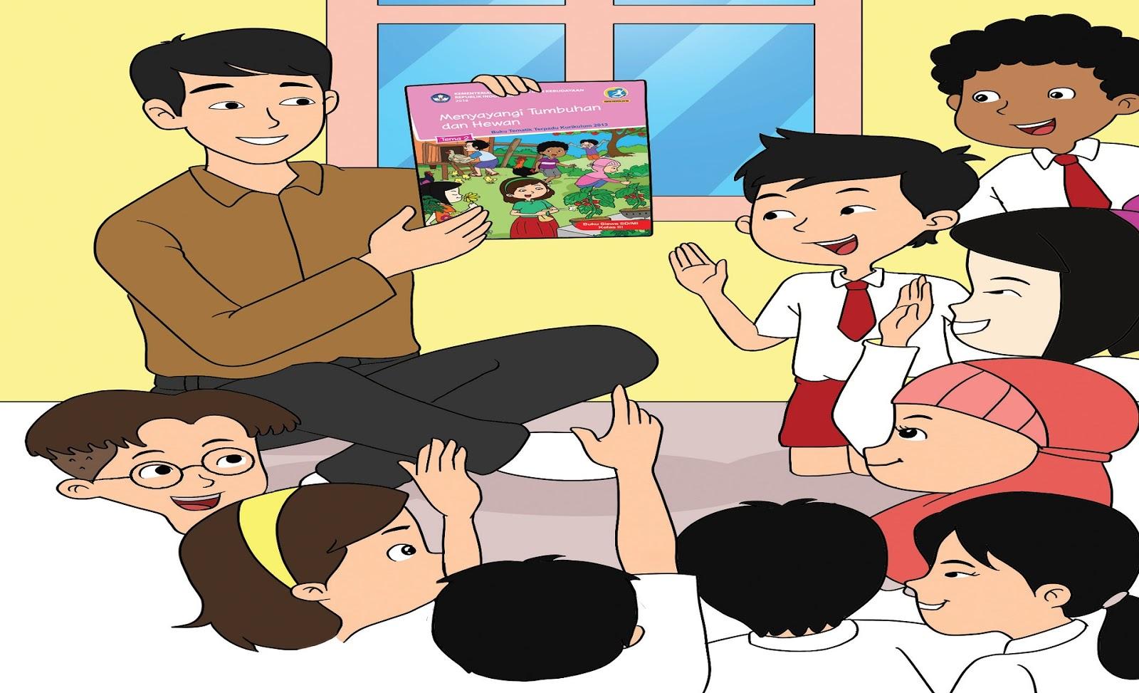 Download Buku Siswa dan Buku Guru Kelas III (Tiga) SD Kurikulum 2013 Revisi 2018