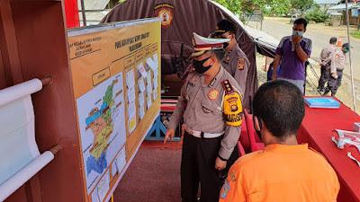Ditlantas Polda Jambi Laksanakan Pengecekan Cek Point Di Pos PAM Ops Ketupat Siginjai 2020