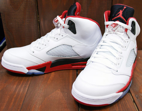 3eb8f8fa755a60 Air Jordan 5 Retro White Fire Red-Black August 2013. A new detailed look at  this original Air Jordan V returning at the end of the month.