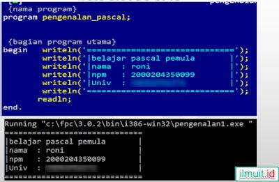 program sederhana pascal