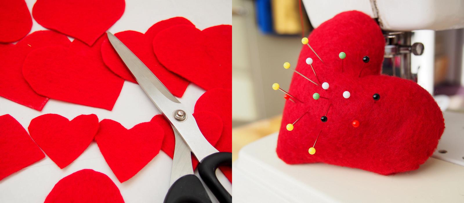 ee4872265 DIY: valentínsky srdce z filcu // darček vhodný pre ňu alebo ako dekorácia
