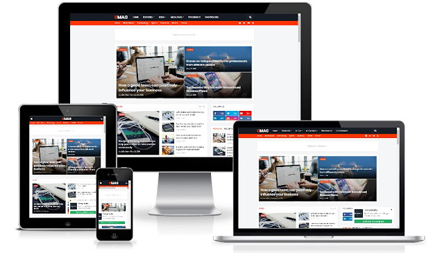 Gmag Premium - Responsive Magazine Blogger Template