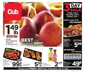 Cub Foods Specials Ad July 10 - 17, 2019 or 7/11/19